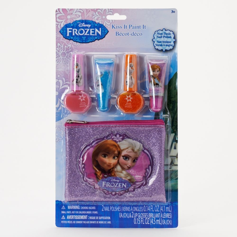 Disney Frozen Nail Polish &Amp; Lip Gloss Cosmetic Set - Girls