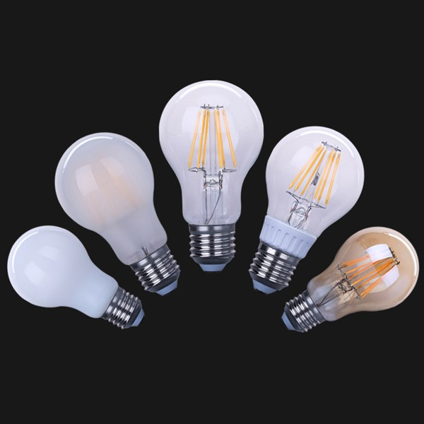 New products CE UL led lights A60/A19 8W e27 LED filament bulb dimmable