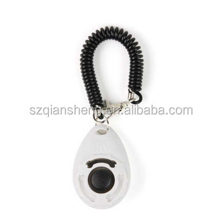 High Quality  Pet Dog Training Clicker with Wrist Strap