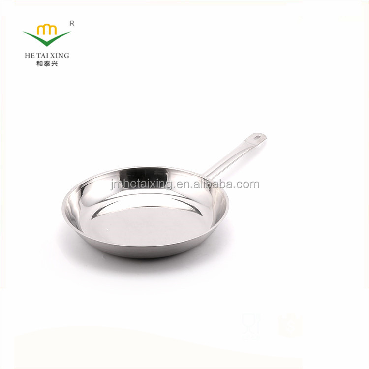 Wholesale Different Size Round Stainless Steel Frying Pan