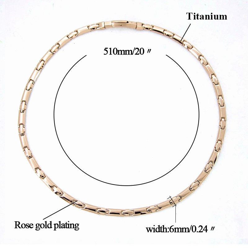 Fashion and Health Germanium Titanium Necklace Jewelries