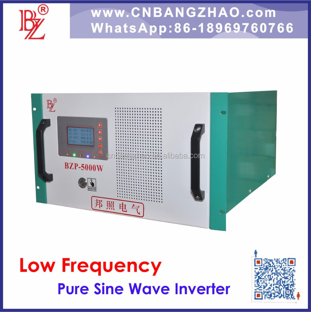 5kw 96VDC input to dual output 120/240v off-grid solar inverter for Battery energy storage system