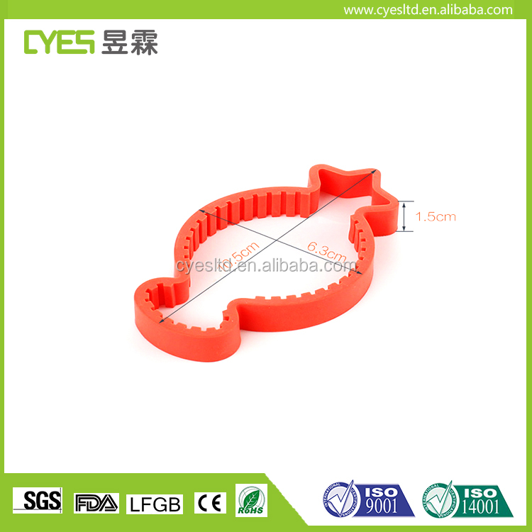 Fashion shape promotional gift personalized good price silicone jar opener