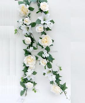 Cheap silk flower garland artificial rose and lily garland wedding cheap silk flower garland artificial rose and lily garland wedding flower garland mightylinksfo