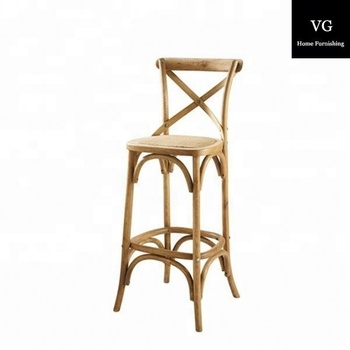 Antique Counter Chair Solid Wood Seat Cross Back Bistro Counter Stools Bar Stool High Back Dining Bar Chairs Buy Dining Bar Chairs Antique Solid