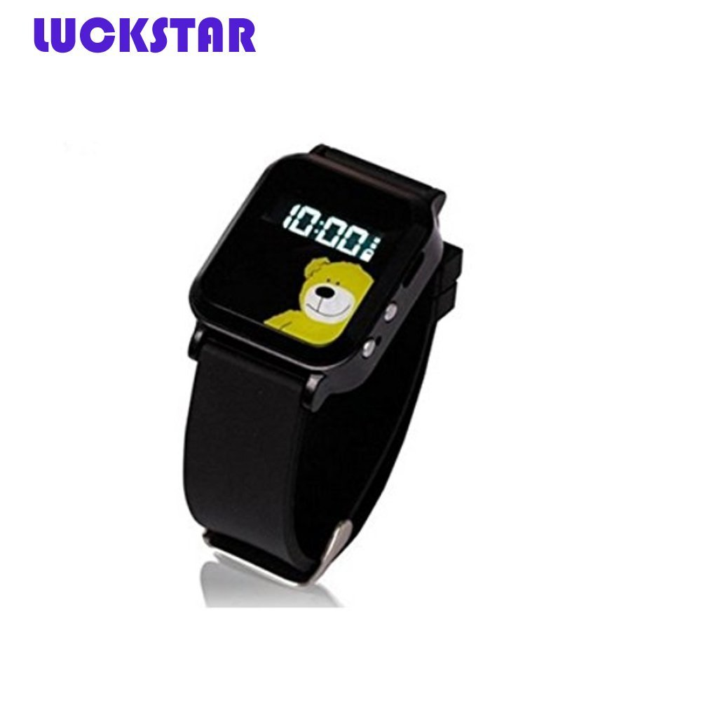 LUCKSTAR(TM) Dual GPS GSM Position SOS Emergency Tracker Smart Watch Wrist Watch For Kids Children Student (Black 2)