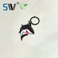 Fancy custom cartoon logo submarine world shark live animal keychain