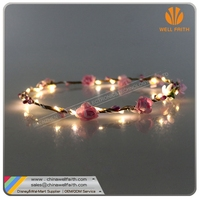 Customized Seaside Flower Garland, LED Hair Garland for wedding/ christmas/ party