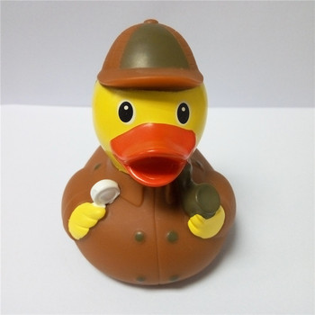 Promotional Detective Rubber Duck Toy,Large Plastic Bath Duck For ...