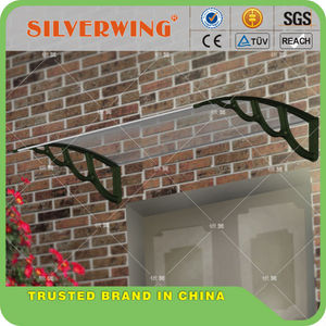 DIY plastic arms balcony awnings wind resistant canopy awnings material for door canopy