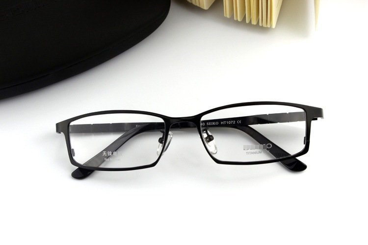 e96a90cde5 Fashion Brand Eyeglasses Frame High Quality Pure Titanium glasses frame men optical  frame glasses frame full rim eyewear HT1072