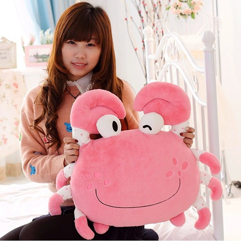 Hot sale colorful cute comfortable crab shaped plush cushion for sleep