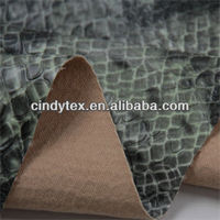 0.6mm high quality 100% viscose print pu snake skin faux leather