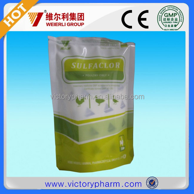 Sulfaclozine sodium treatment intestinal coccidiosis disease