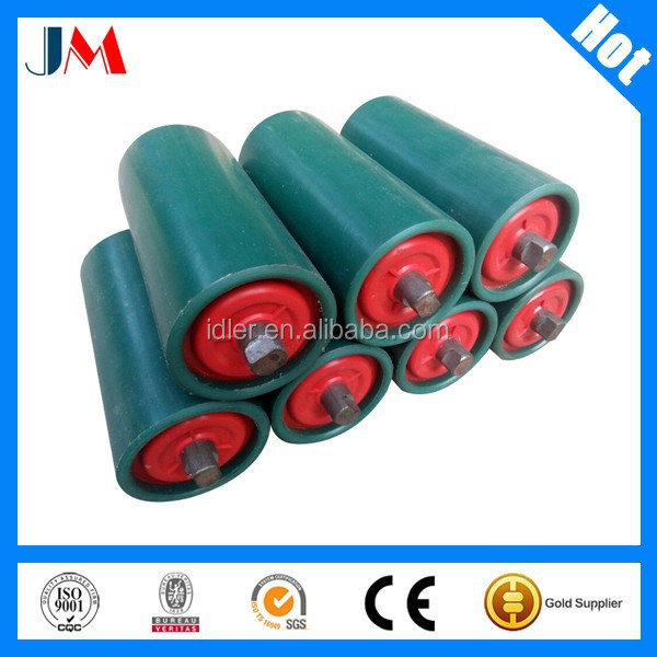 Belt Conveyor Teflon Rubber Coated Rollers