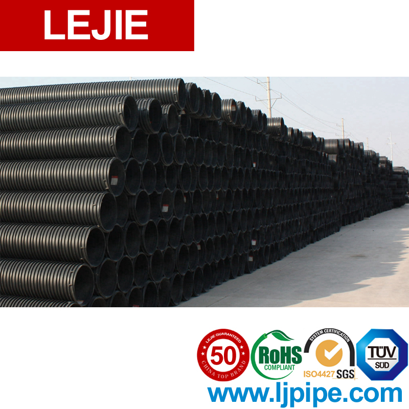 Hdpe Dn 200 Spiral Drainage Corrugated Perforated Steel Pipe