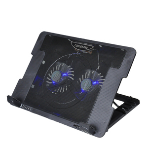 China wholesale 120mm 2 led fan purple notebook cooling cooler pad
