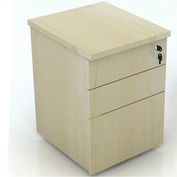 Office Wooden 3 Drawers File Cabinet With Lock Drawer Dividers