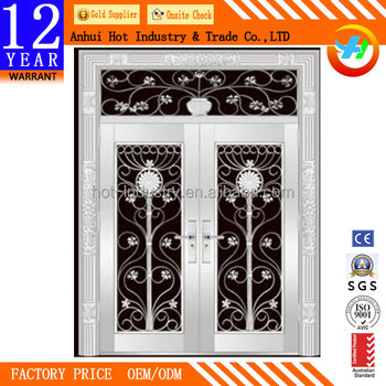 Modern Security Screen Door Stainless Steel Mesh Door Designs For Houses  Decorative Front Double Door