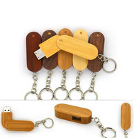 wooden Rectangle USB flash drive factory price