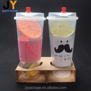 Clear PP plastic cup disposable plastic bubble tea cup