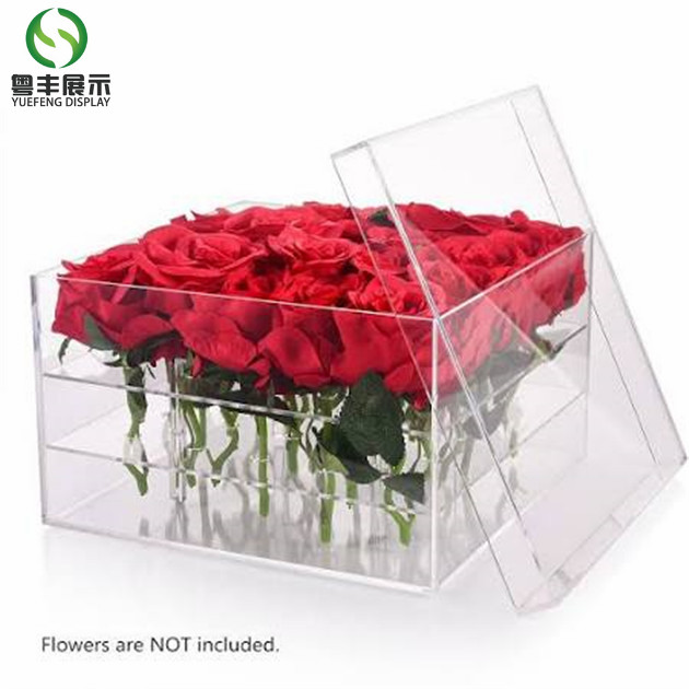 Acrylic flower box with cover