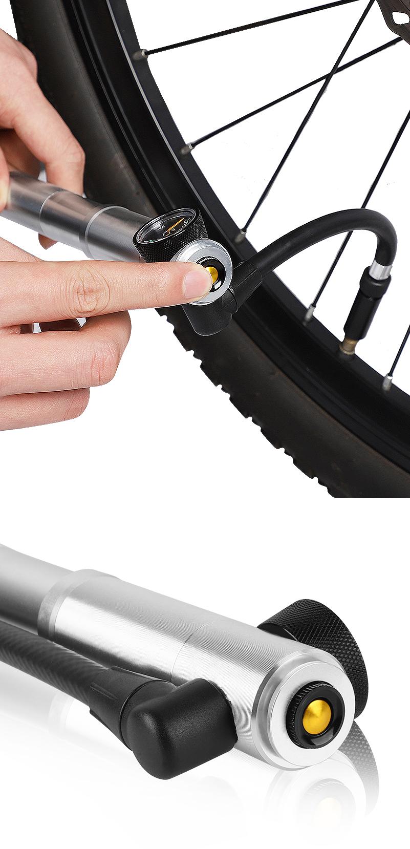 TÂY ĐI XE ĐẠP Mini Xe Đạp Bơm Chu Kỳ Tay Máy Bơm Không Khí Ống Phụ Kiện Xe Đạp Cascos Xe Đạp Bóng Tire Inflator Mini Đạp Xe Đạp Tay bơm