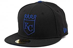 aed7fcac Buy New Era Kansas City Royals Black Tonal Pop 59FIFTY Fitted Hat (7 ...