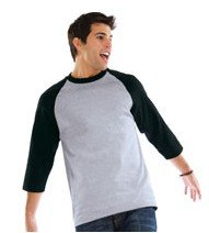 athletic wear - Anvil 3 4 Length Raglan Sleeve Baseball T-shirt - 2184.  View larger image 68f480240