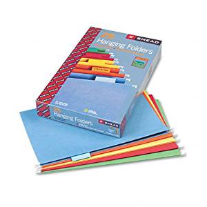 Smead : Hanging File Folders, 1/5 Tab, 11 Point Stock, Legal, Assorted Colors, 25/Box -:- Sold as 2 Packs of - 25 - / - Total of 50 Each