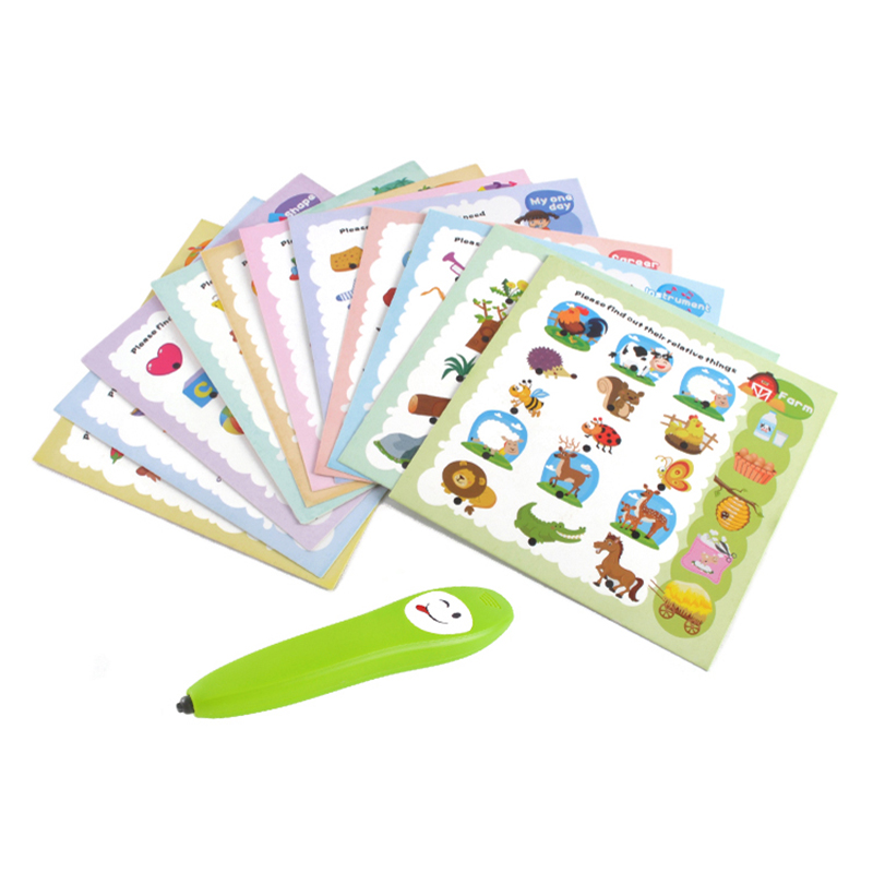 Custom English Electronic Voice Point Reading Pen For Kids