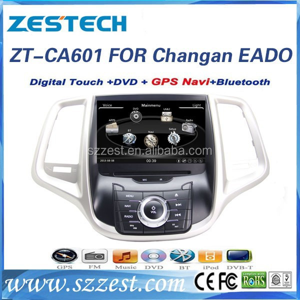car dvd for Changan Eado car dvd with gps 2 din car multimedia navigation system 2015 ZT-CA601