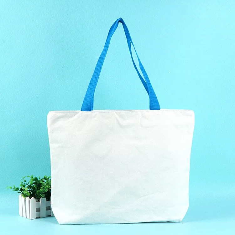 customized large 100% cotton canvas tote shopping bag