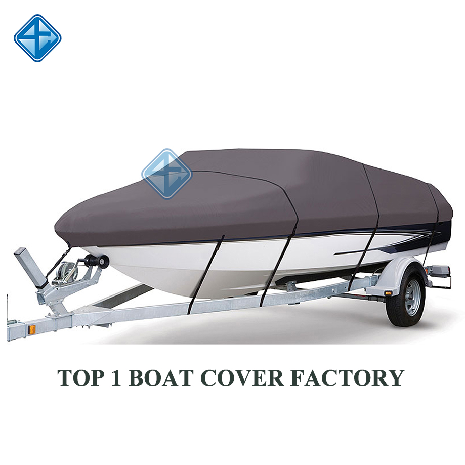 14-16Ft 210D Blue For Oxford Fabric Waterproof Boat Cover with Storage Bag