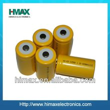 sub c rechargeable battery 1.2v nicd 2500mah shenzhen factory price