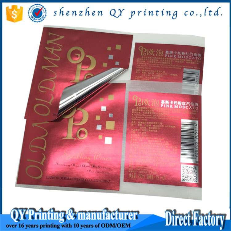 customized self adhesive water and heat resistant sticker paper