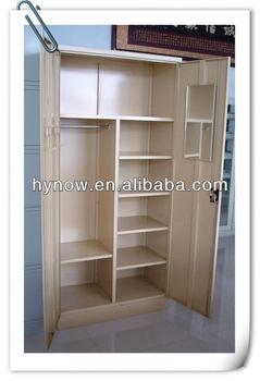 Indian Market Steel Furniture Two Door Wardrobe Inside