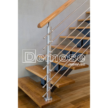 Interior Closed Riser Stairs With Safety Wood Treads