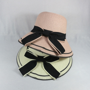 50b25463860d1 Straw Hat With Bowknot Wholesale