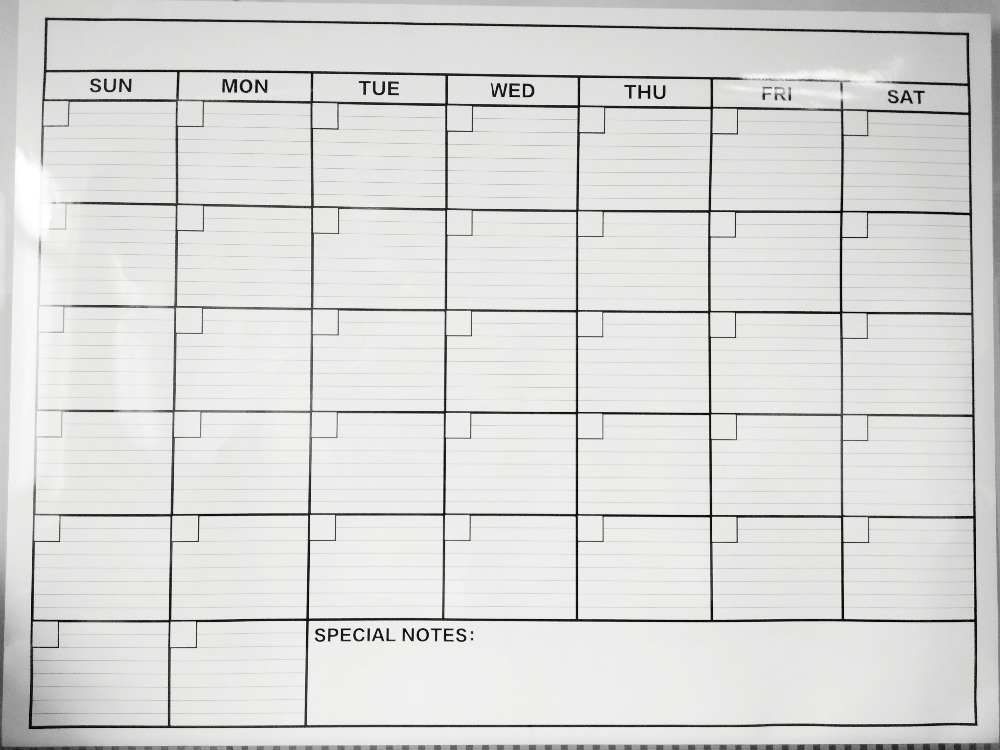 Monthly Jumbo Wall Calendar Planner