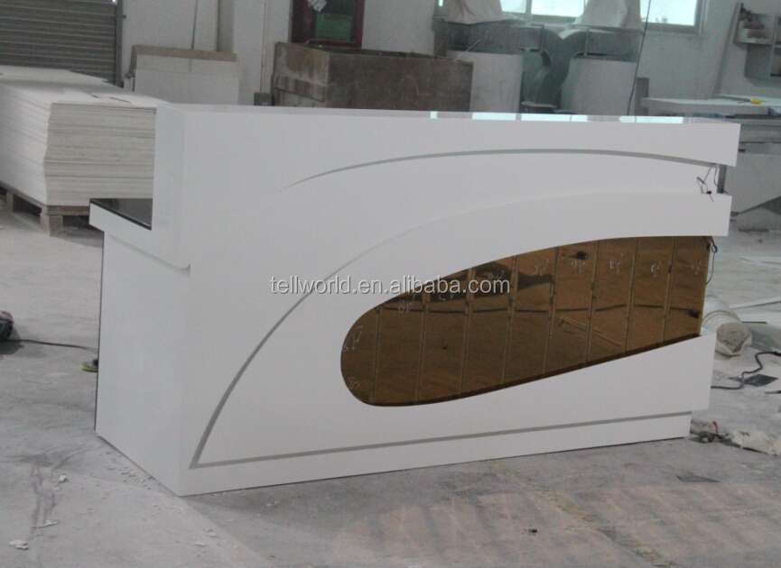 Luxury Spa Reception Desk Modern Front Office Counter