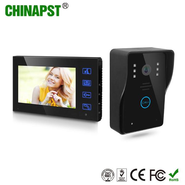 Alibaba hot sale house intercom system 7'' TFT LCD screen touch key video door phone system PST-VD7WT2