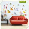English cartoon animals luminous wall stickers home decor removable kids room sticker kindergarten background wall decals