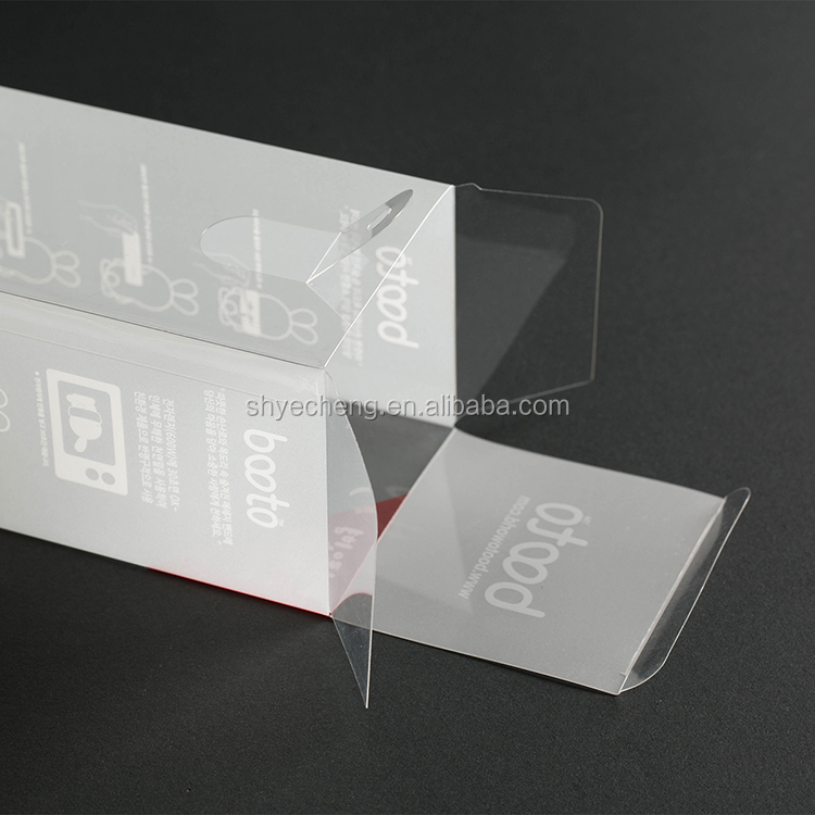Eco friendly recyclable clear pvc transparent plastic box