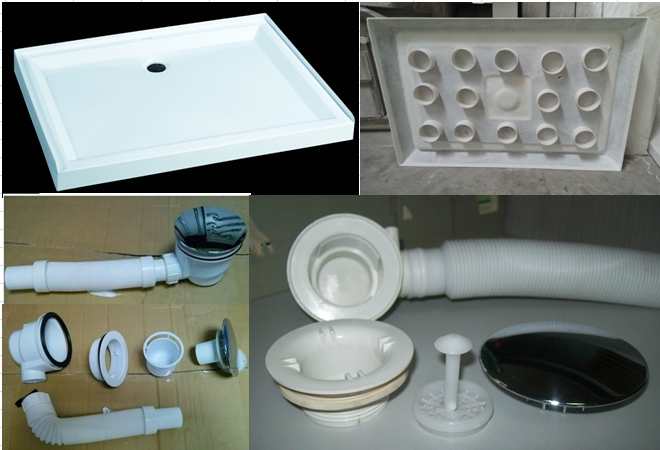Different L-shape Acrylic cheap Shower tray for shower door