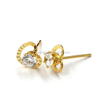 bba7c54e8 2017 New fashion latest gold earring designs new model fancy diamond  crystal stud earrings for women