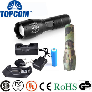 Rechargeable Thicker Rubber 1101 Type Light Flashlight Plus