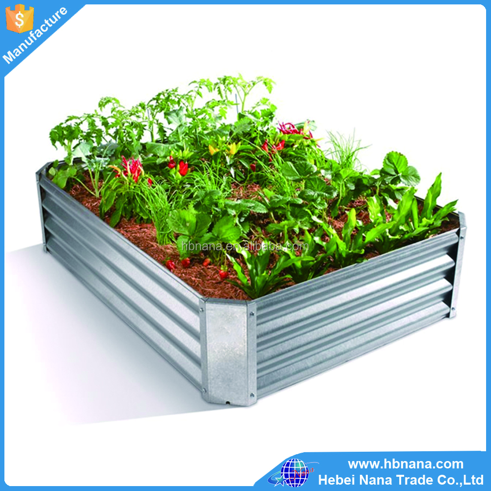 Hot sale customized galvanzied planter / raised garden bed iron