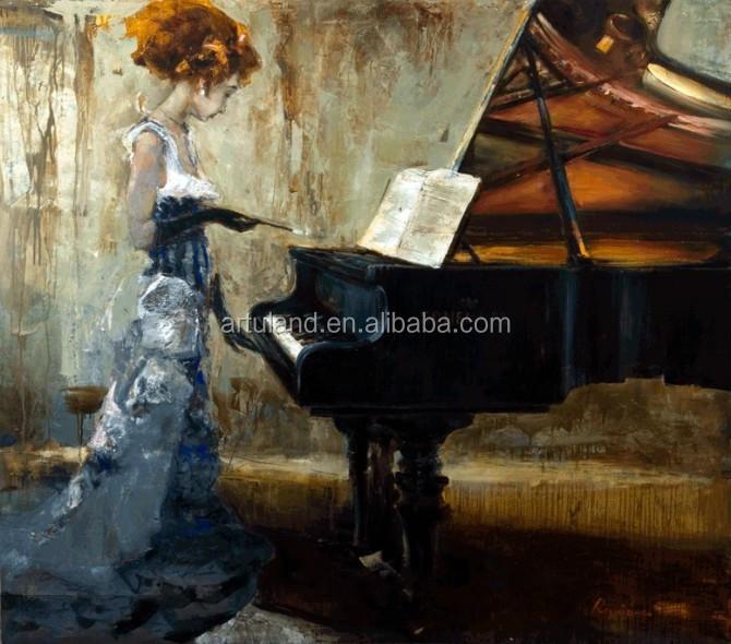 het spelen van de piano beroemde moderne abstracte canvas ...
