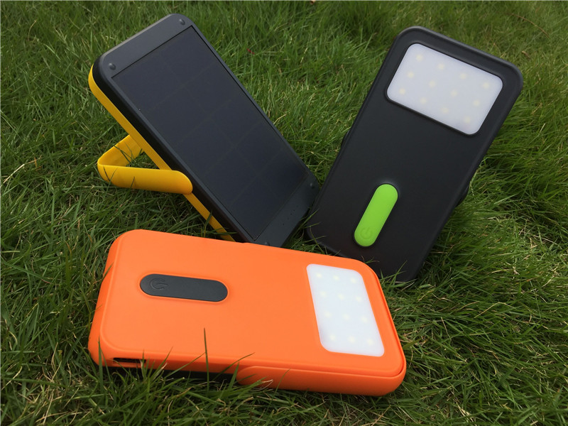 10000 M Ah Portable Panel Tenaga Surya/Solar Panel Power Bank External Battery Charger untuk Ponsel